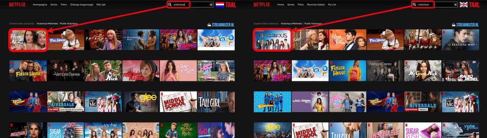 Netflix lijst onzichtbare films series Nederlands Engels