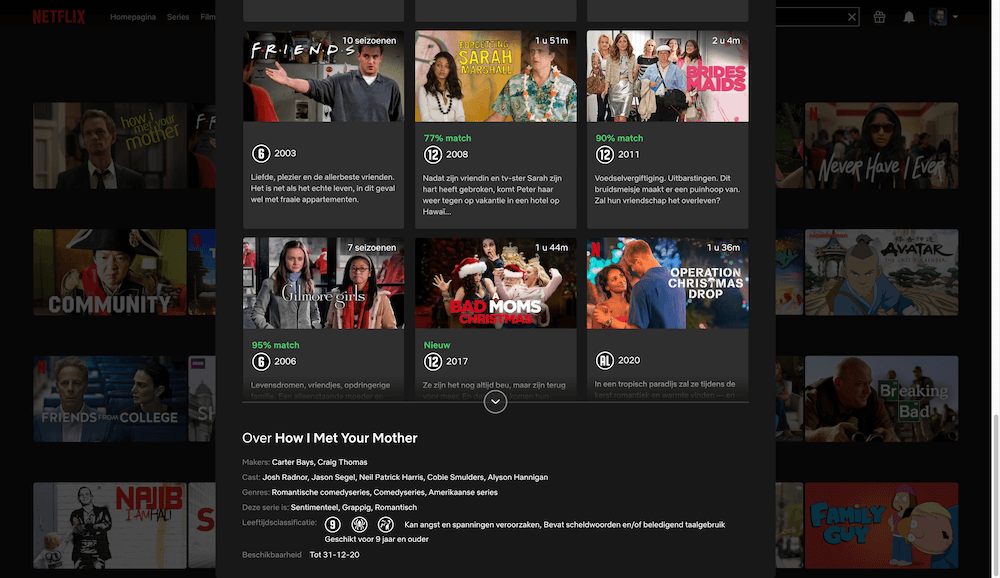 Netflix verwijdert How I Met Your Mother