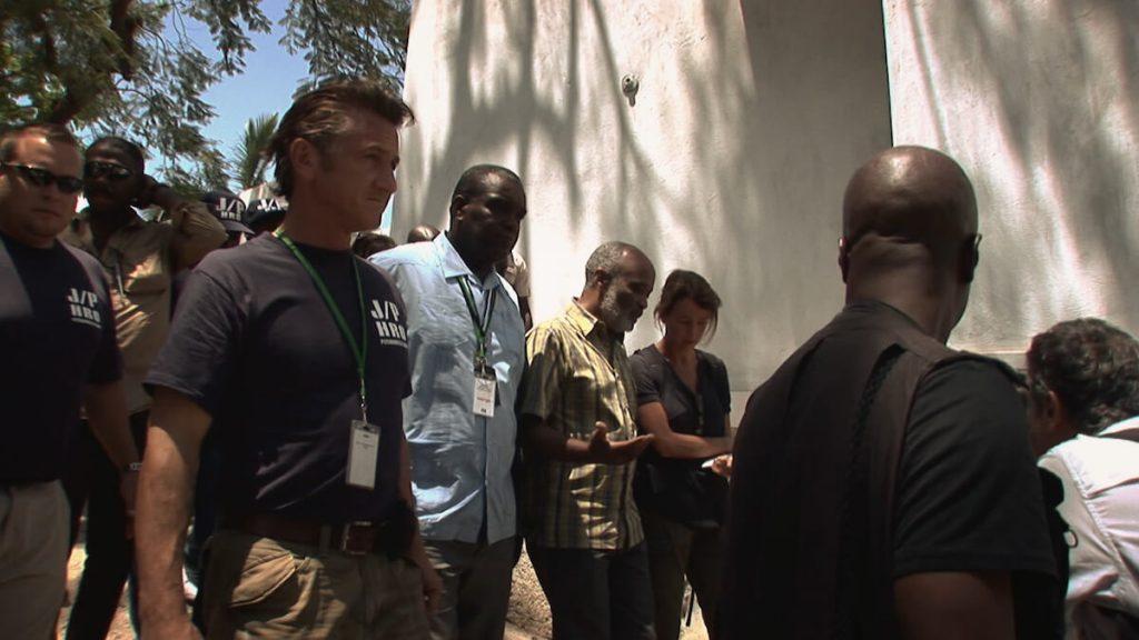 Sean Penn met voormalig president Haïti